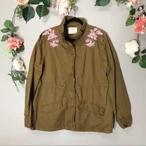 🤍Ashley by 26 embroidered utility jacket sz L